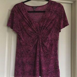 Daisy Fuentes Purple Jersey Top